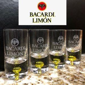 Other - 4 Bacardi limón shot glasses